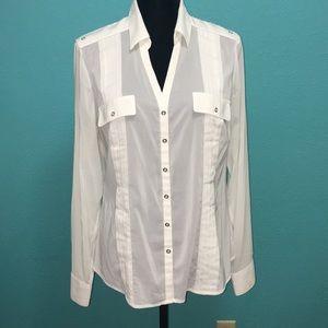 WHBM ivory blouse Size 12